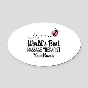 World's Best Massage Therapist Oval Car Magnet