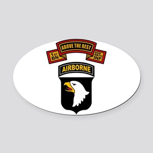 1-327th - 101st Oval Car Magnet