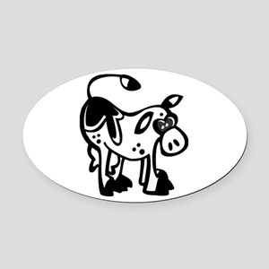 Silly Cow Oval Car Magnet