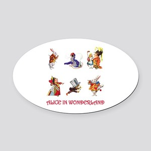 Alice & Friends 12 Red copy Oval Car Magnet