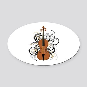 Violin Oval Car Magnet
