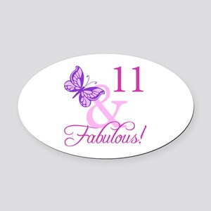 Fabulous 11th Birthday Oval Car Magnet