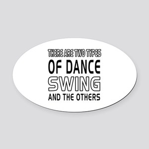 Swing Dance Designs Oval Car Magnet