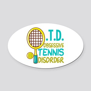 Funny Tennis Oval Car Magnet