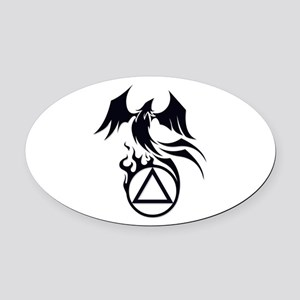 AA Logo Phoenix Black Oval Car Magnet