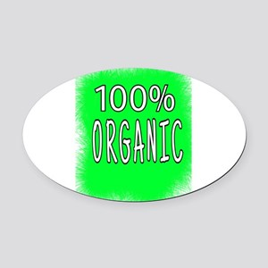 100% ORGANIC Oval Car Magnet