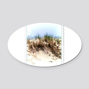 Watercolor Sketch of Sand Dune Sta Oval Car Magnet