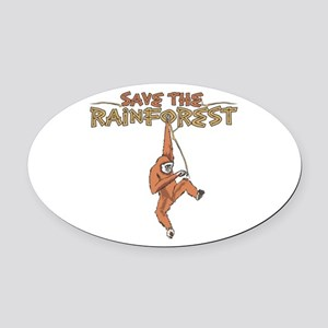 Save the Rainforest Oval Car Magnet