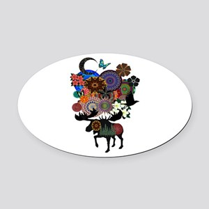 MAKE IT WHIMSICAL Oval Car Magnet