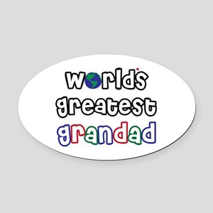 WorldsGreatestGrandad Oval Car Magnet