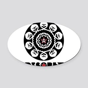 DISOBEY7 Oval Car Magnet