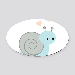 Lovely Snail Oval Car Magnet