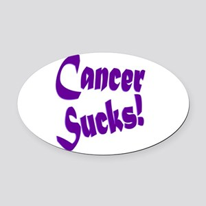 Cancer Sucks Purple! Oval Car Magnet