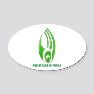 Borg Symbol Personalized Oval Car Magnet