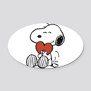 Peanuts Valentine Oval Car Magnet