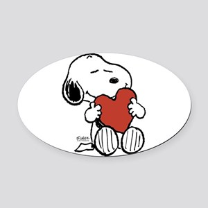 Peanuts: Snoopy Heart Oval Car Magnet