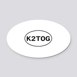 k2tog Oval Car Magnet