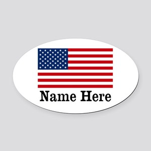 Personalized American Flag Oval Car Magnet