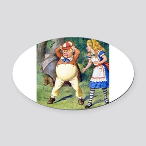 Alice and Tweedle Dum Oval Car Magnet