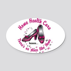Home health care Oval Car Magnet