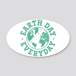 Vintage Earth Day Everyday Oval Car Magnet