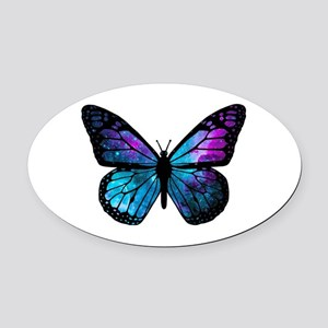 Galactic Butterfly Oval Car Magnet