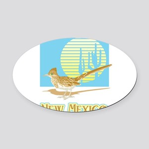 33043378roadrunnernewmexico Oval Car Magnet