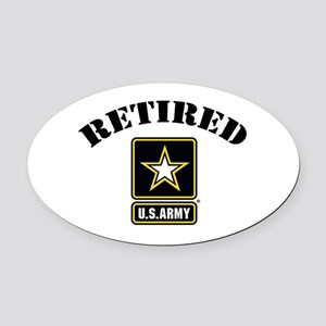 Retired U.S. Army Soldier Oval Car Magnet