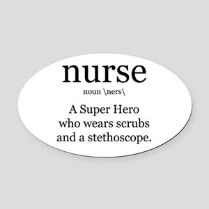 nurse definition two Oval Car Magnet