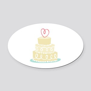 Wedding Cake Oval Car Magnet