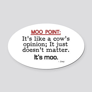 'Moo Point' Oval Car Magnet