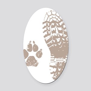 Take a hike Boot n Paw Oval Car Magnet
