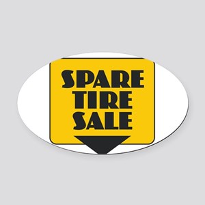 Spare Tire Sale Oval Car Magnet