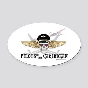 Pilots of the Caribbean Oval Car Magnet