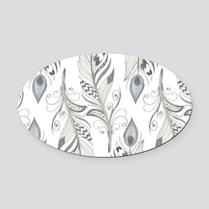 Beautiful Feathers Oval Car Magnet