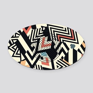 Abstract Pattern Oval Car Magnet