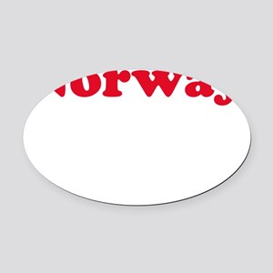 vikingNorwayAss1B Oval Car Magnet