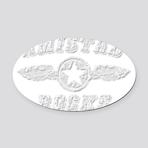AMISTAD ROCKS Oval Car Magnet
