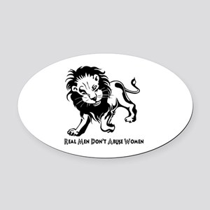 Domestic Violence Statement Oval Car Magnet
