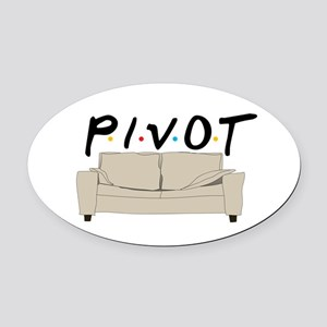 Pivot Oval Car Magnet