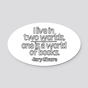 A World of Books Oval Car Magnet