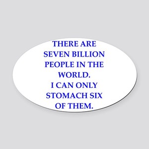 people Oval Car Magnet
