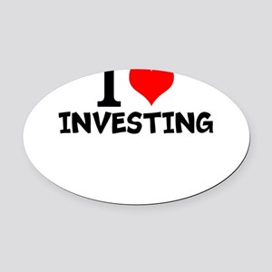 I Love Investing Oval Car Magnet