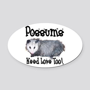 possum33 Oval Car Magnet