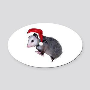 santaspossum Oval Car Magnet