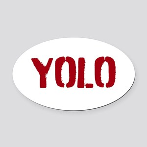 Yolo Oval Car Magnet