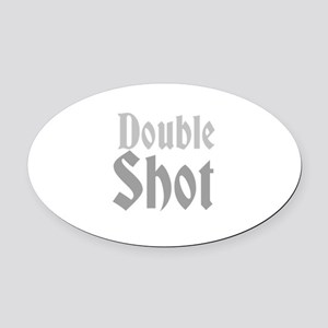 Double Shot Oval Car Magnet
