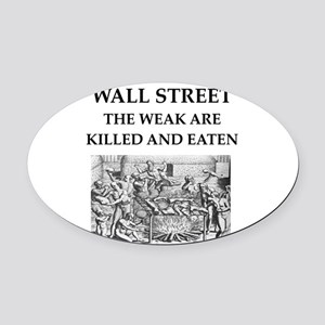 wall street Oval Car Magnet