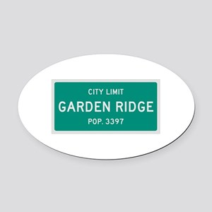 Garden Ridge, Texas City Limits Oval Car Magnet