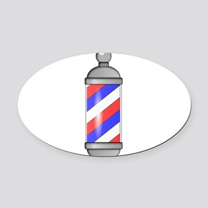 Barber Shop Pole Oval Car Magnet